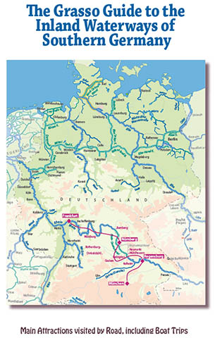 Itinerary of tour to waterways in Southern Germany